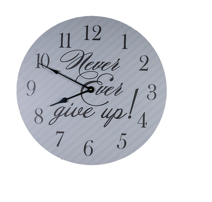 Never-Give-Up-Clock