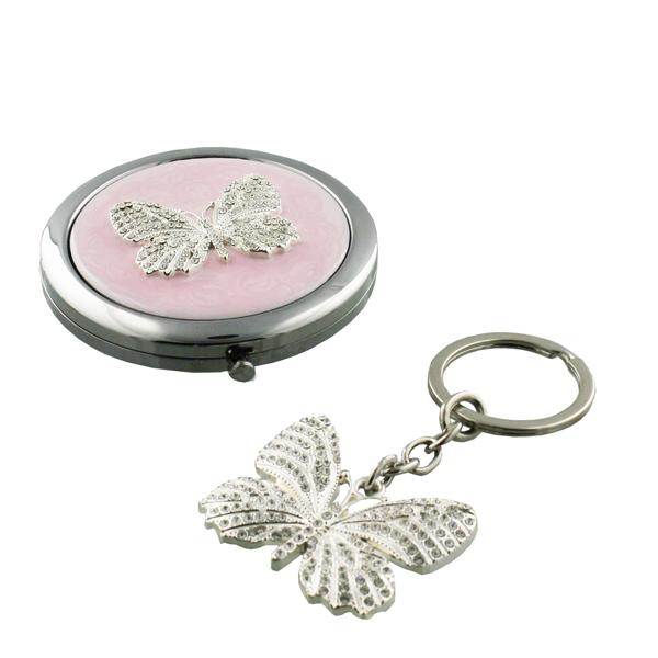 Butterfly-Mirror-Keychain