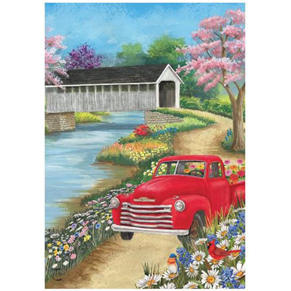 Truckin-Along-Spring-Garden-Flag1